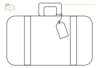 Exhilarating image intended for suitcase template printable